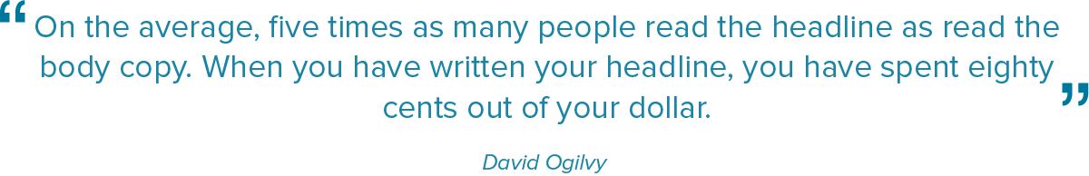 Sitat David Ogilvy - British advertising executive